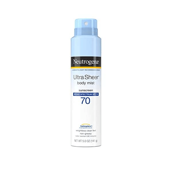 Xịt chống nắng Neutrogena Ultra Sheer Body Mist Sunscreen Broad Spectrum SPF70 141g